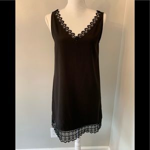 Black cocktail dress with lace size XS